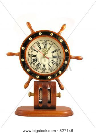 Captains Wheel Clock