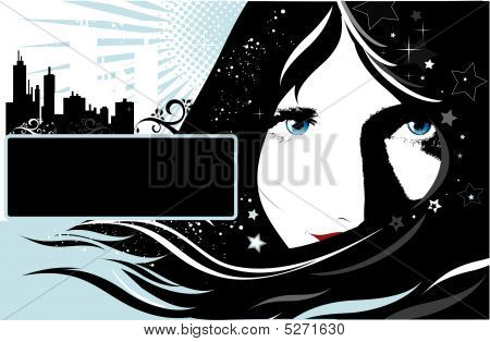 Background With Girl