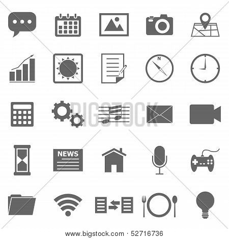 Application Icons On White Background