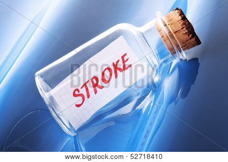 Artistic health concept of a message in a bottle saying