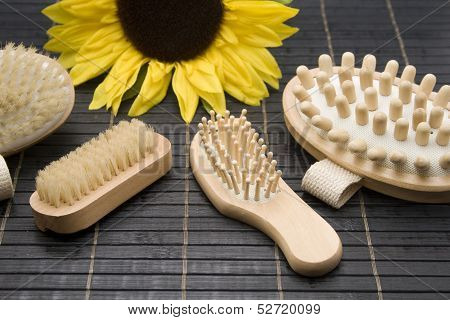 Massage and hairbrush
