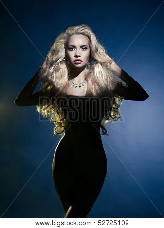 Fashion art photo of sexual beauty blonde