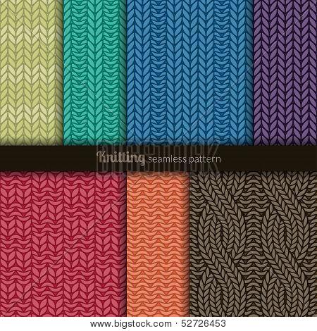 Seamless Patterns Knitting Style