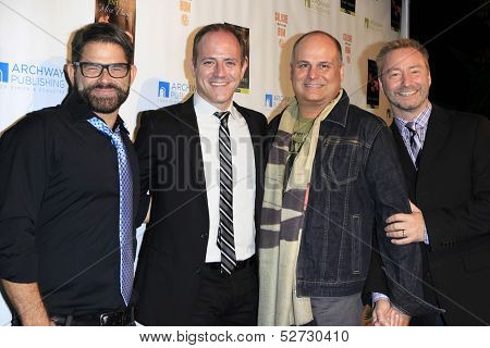 MALIBU - OCT 21: Matt Zarley, Michael Caprio, Brian Edwards, Randy Slovacek at the