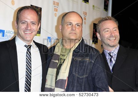 MALIBU - OCT 21: Michael Caprio, Brian Edwards, Randy Slovacek at the