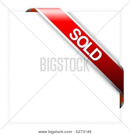 Red Corner Ribbon For Sold Items