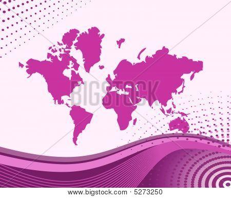 Vector Illustration Map Of World