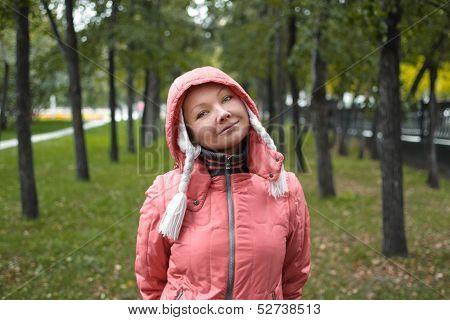Autumn Portrait Of Yound Woman