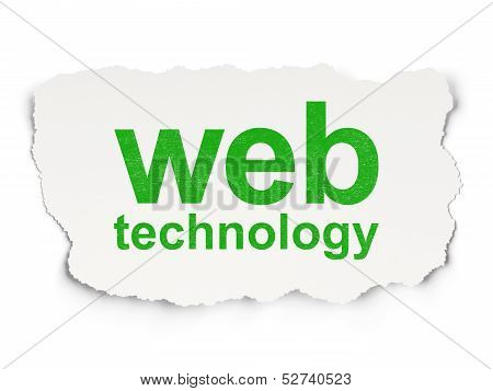 Web development concept: Web Technology on Paper background
