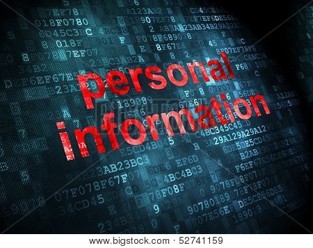 Security concept: Personal Information on digital background