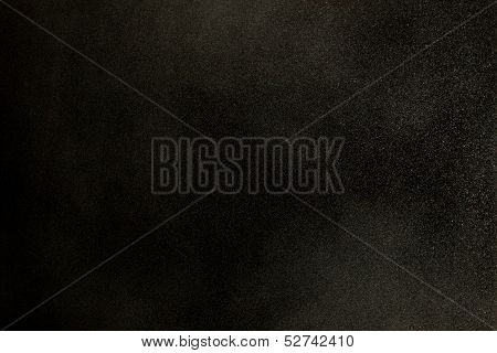 Texture Of Dust In The Wind Over Black Background