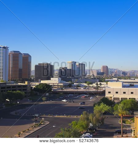 A Central Avenue, Phoenix, Arizona, Skyscrapers Shot
