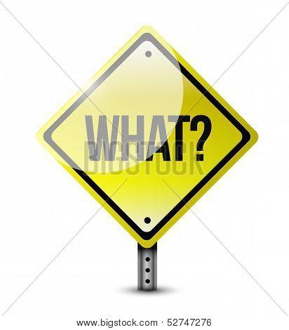 What Road Sign Illustration Design