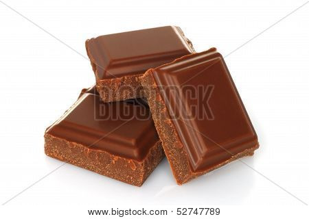 Broken chocolate bar
