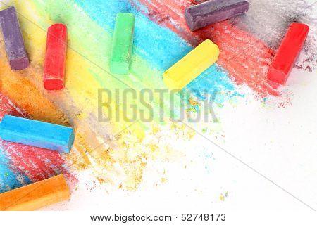 Color pieces of chalk