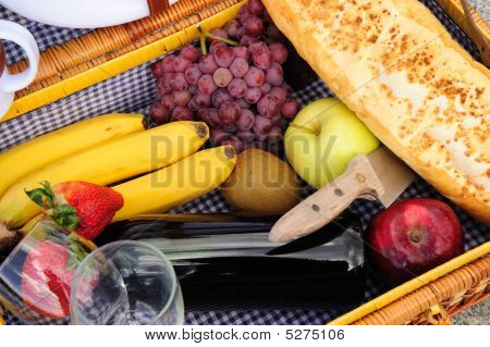 Inside A Picnic Basket