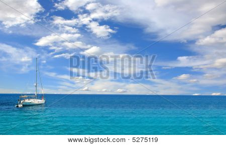 Sailing Yacht In The Agean Sea
