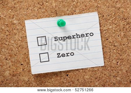 Superhero or Zero?