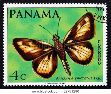 Postage Stamp Panama 1968 Pamphila Epictetus, Butterfly