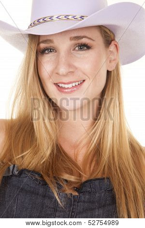 Cowgirl Headshot Faceing Smile
