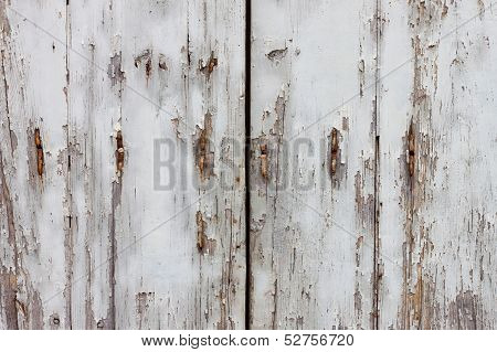 Old Wooden And Grungy Locked Door