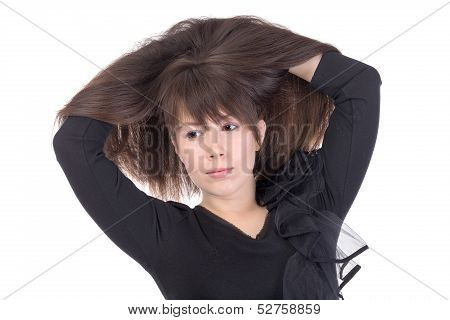 Attractive Young Woman With Lovely Long Hair