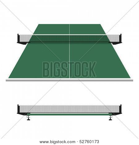 Table tennis, ping pong net. Vector.