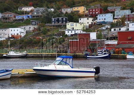 Village Of Petty Harbor Newfoundland.