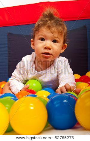 Baby Boy With Colorful Balls