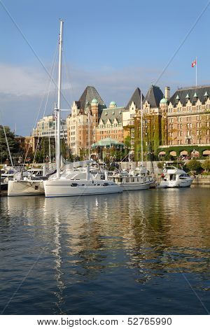 Inner Harbor Afternoon, Victoria, BC, vertical