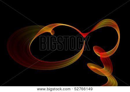 Abstract Ribbon Frame