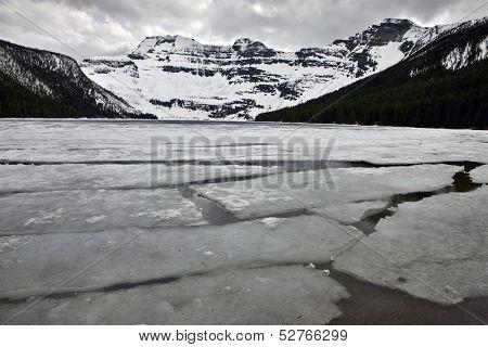 Cameron Lake In Winter