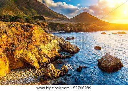 Pacific Ocean coast, California, USA