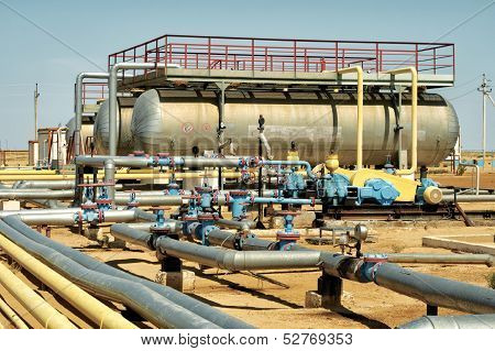 Installation Of Pumping Oil.