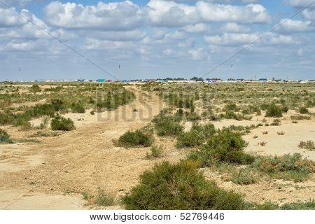 Road In The Desert.