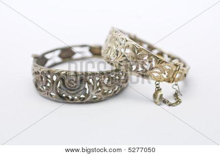 Pair Of Vintage Silver Bracelets