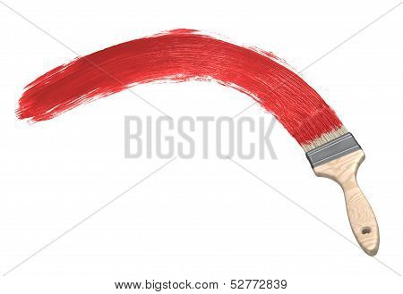 Red paint & Paintbrush