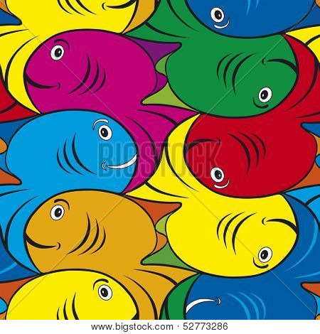 Seamless Fish Tessellation Texture Pattern
