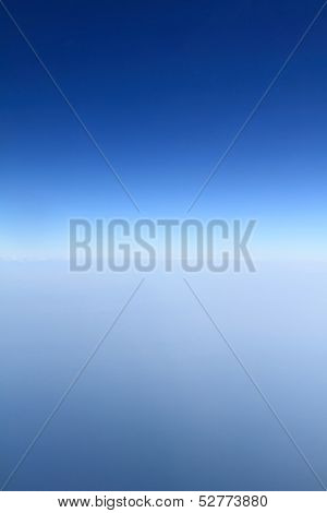 Blue horizon, aerial shot