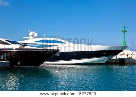 Power Boats In Marina