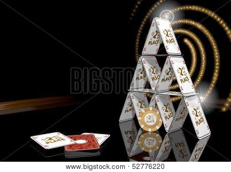 3D Graphic Of A Exclusive 2Nd Place Symbol  On The Casino Table