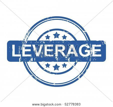 Leverage business stamp with stars isolated on a white background.