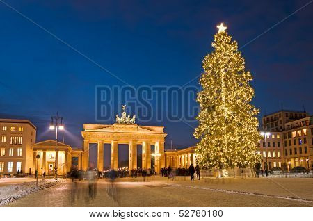 Berlin Brandenburg Gate Christmas