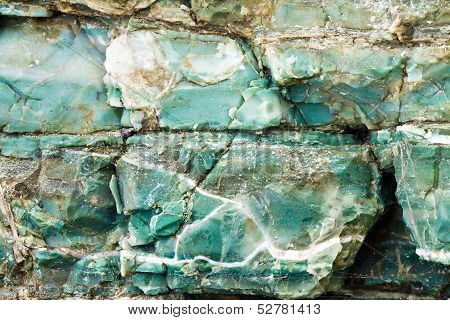 blue chert layers closeup, Oregon coast