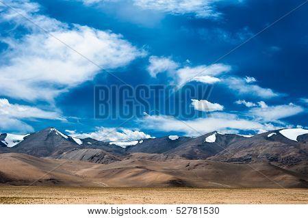 Himalaya high mountain landscape panorama. India