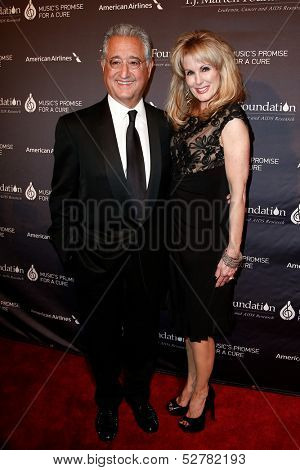 NEW YORK- OCT 22:  President of Broadcast Music, Inc. Del Bryant (L) and Randi Rahm attend the T.J. Martell Foundation's 38th Annual Honors Gala at Cipriani's on October 22, 2013 in New York City.