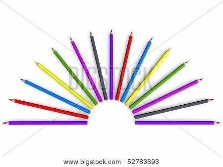 Crayon In Semicircular