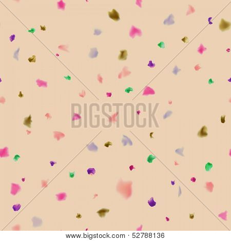 Seamless spotted background with watercolour dots. Vector eps10.