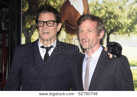 LOS ANGELES - OCT 23: Johnny Knoxville, Spike Jonze at the Premiere of