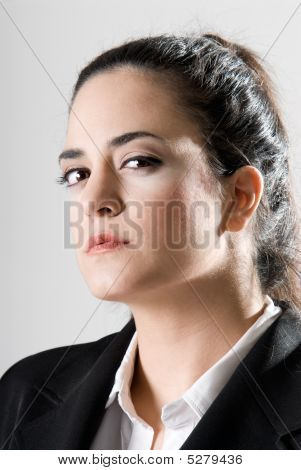 Business Woman Looking Serious